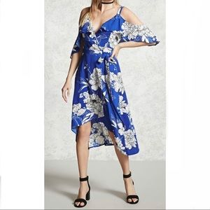 Forever 21 Contemporary Floral Wrap Style Dress